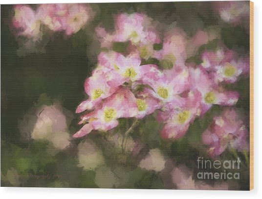 Spring In Pink Wood Print
