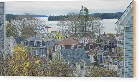 Spring In Maine, Stonington Wood Print