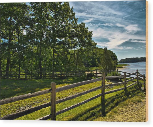 Spring Landscape In Nh 2 Wood Print by Edward Myers