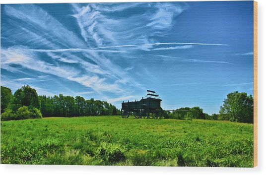 Spring Landscape In Nh 4 Wood Print by Edward Myers