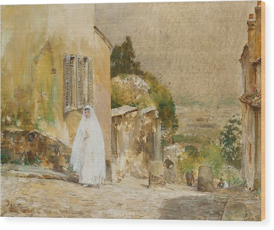 Spring Morning At Montmartre Wood Print