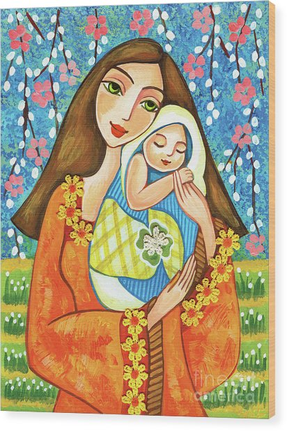 Spring Mother Wood Print