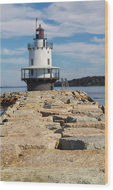 Spring Point Ledge Light Wood Print