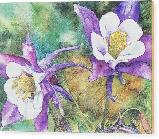 Spring Rain Wood Print
