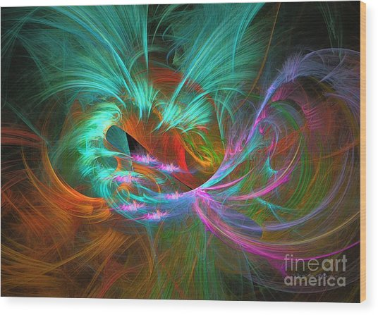 Spring Riot - Abstract Art Wood Print