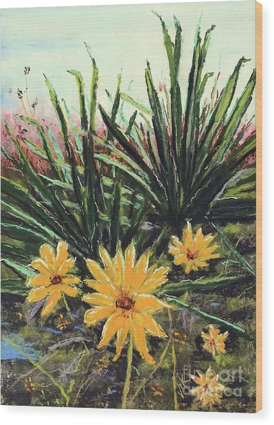 Wood Print featuring the pastel Spring Rising by Vickie Scarlett-Fisher