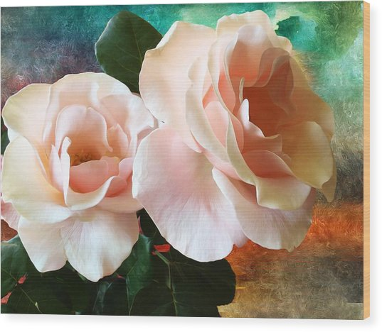 Spring Roses Wood Print