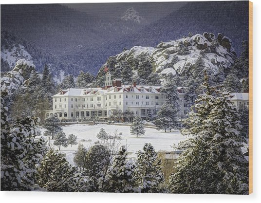 Spring Snow At The Stanley Wood Print by G Wigler