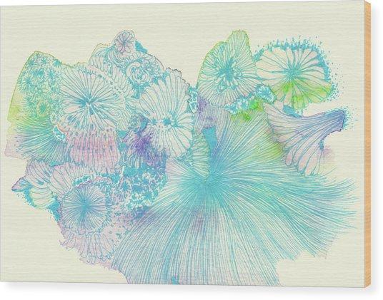 Spring - #ss18dw008 Wood Print by Satomi Sugimoto