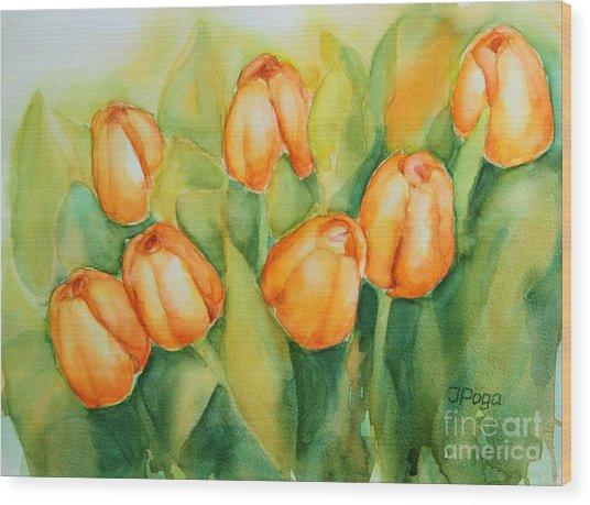 Spring Tulips 1 Wood Print