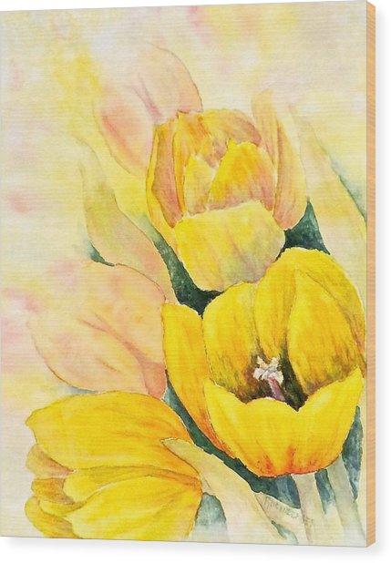 Spring Tulips Wood Print