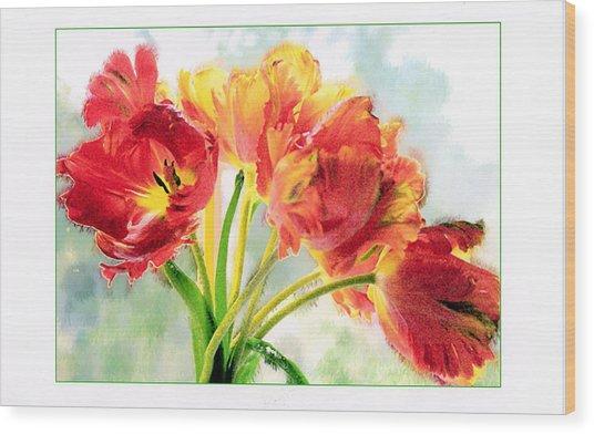 Spring Tulips Wood Print by Margaret Hood