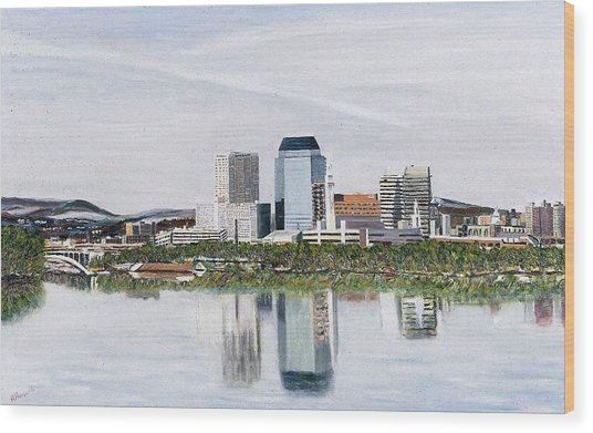 Springfield Reflections Wood Print by Richard Nowak