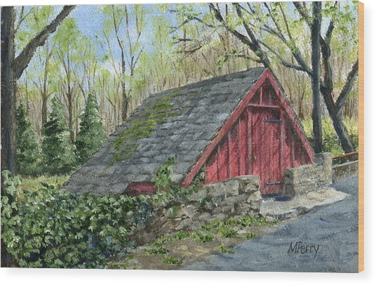 Springhouse At Cuttalossa Wood Print