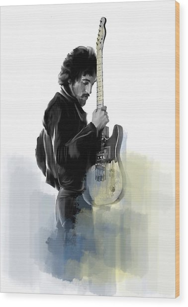 Springsteen Bruce Springsteen Wood Print