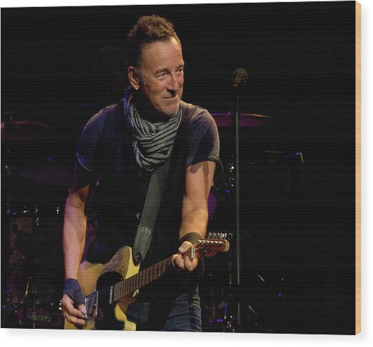 Springsteen-cleveland River Tour 2016 Wood Print