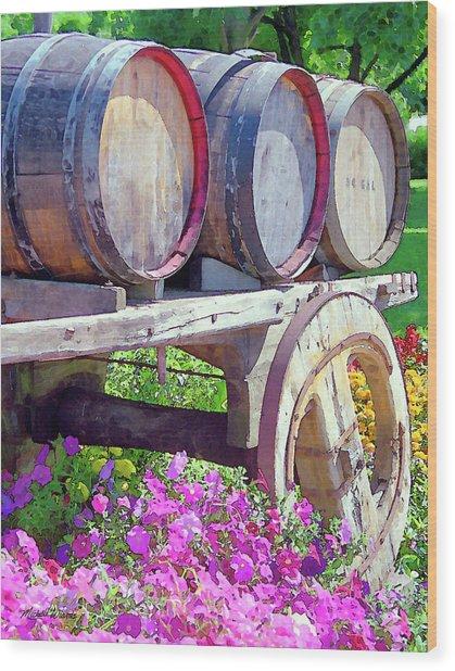 Springtime At V Sattui Winery St Helena California Wood Print