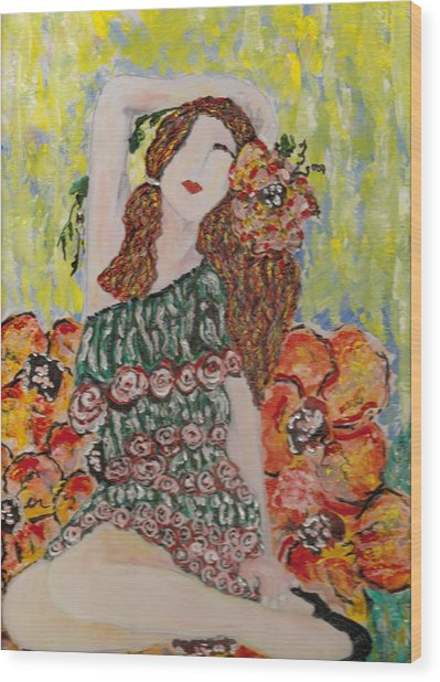 Springtime Wood Print by Cynda LuClaire