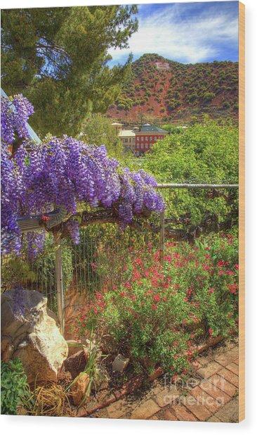 Springtime In Old Bisbee Arizona Wood Print