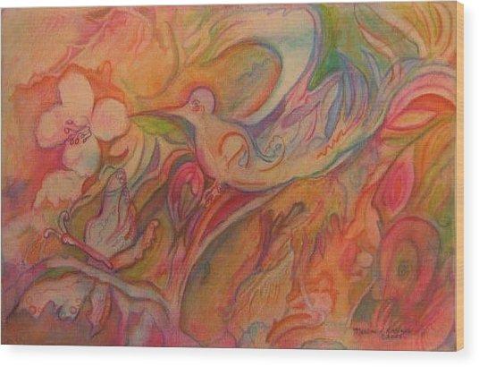 Springtime Wood Print by Marlene Robbins
