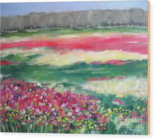 Springtime Memories Wood Print by Marsha Young