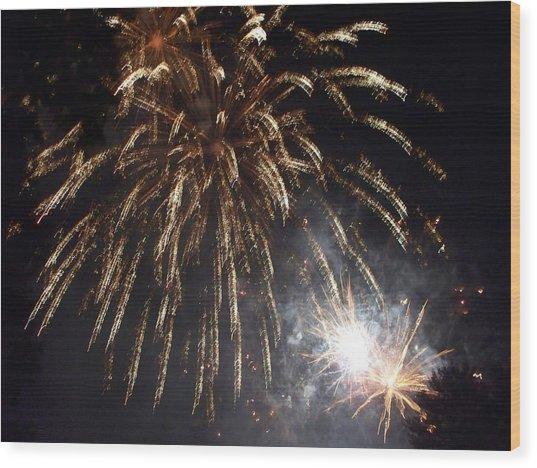 Sprinkler In The Sky Wood Print by Rosanne Bartlett