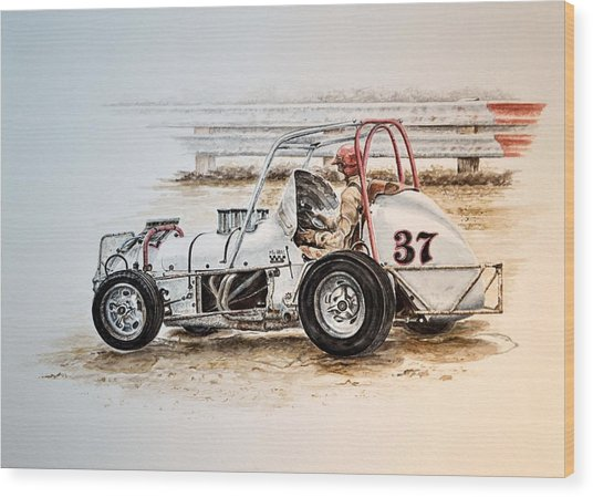 Sprint N Dirt Wood Print