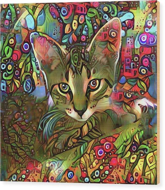 Sprocket The Tabby Kitten Wood Print