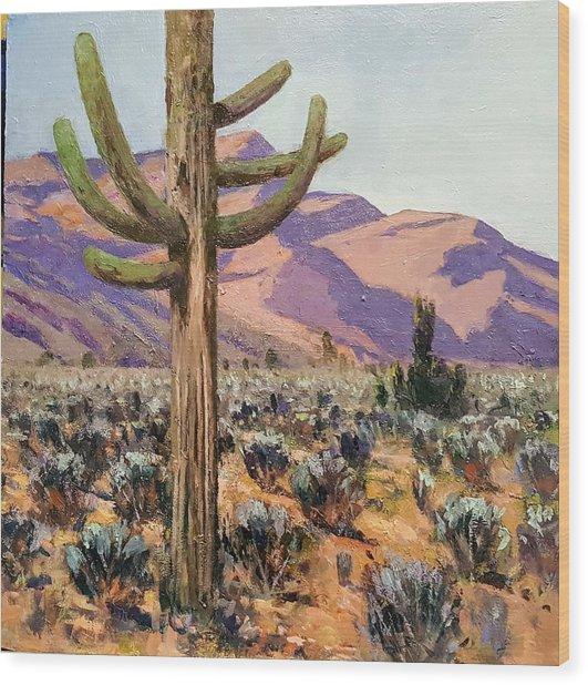 Spur Cross Ranch Wood Print