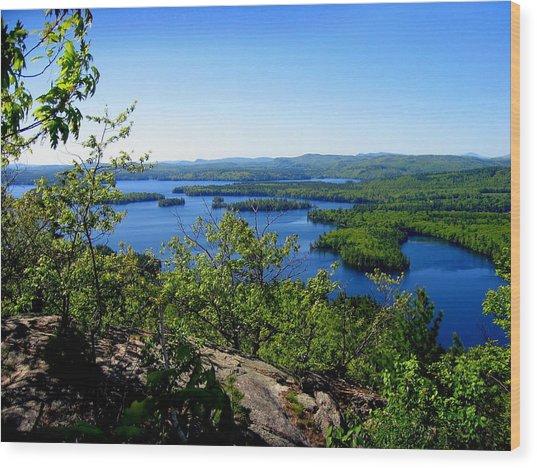 Squam Lake Wood Print