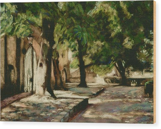 Square In Bruges Wood Print by Judy Adamson