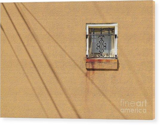 Square Window Wood Print