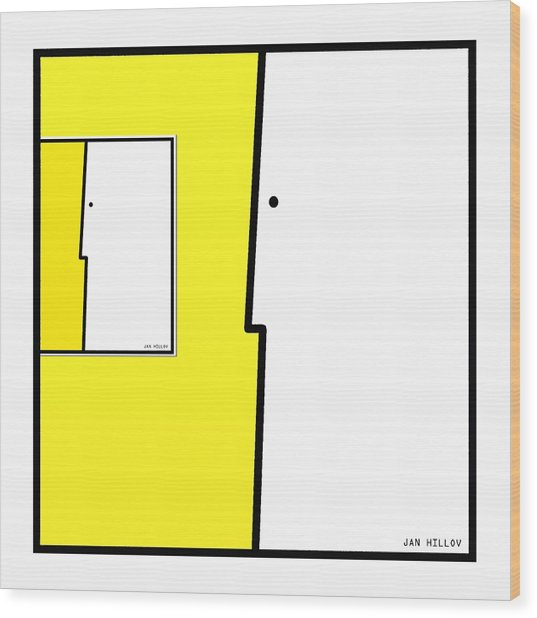 Squarefaces 5 Wood Print by Jan Hillov