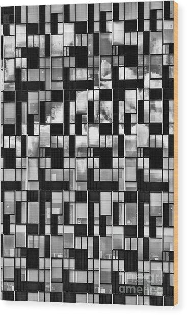 Squaretangles Wood Print