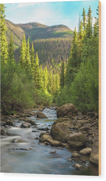 Squaw Creek, Colorado #2 Wood Print