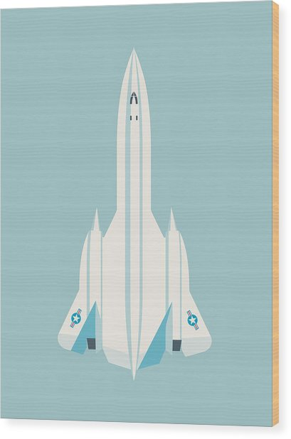 Sr-71 Blackbird Jet Aircraft - Sky Wood Print