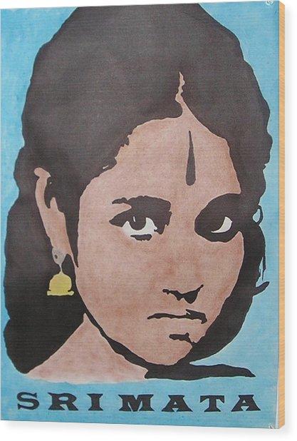 Sri Mata Wood Print by Kenneth Regan