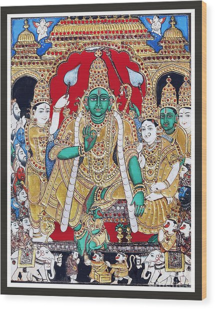 Sri Ramar Pattabhishekam Wood Print