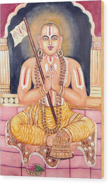 Srimadh Ramanujar Wood Print by Sankaranarayanan