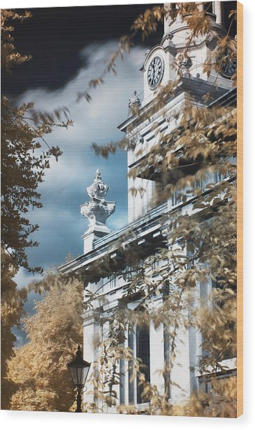 St Alfege Parish Church In Greenwich, London Wood Print