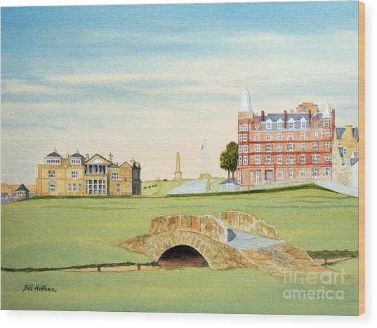 St Andrews Golf Course Scotland Classic View Wood Print