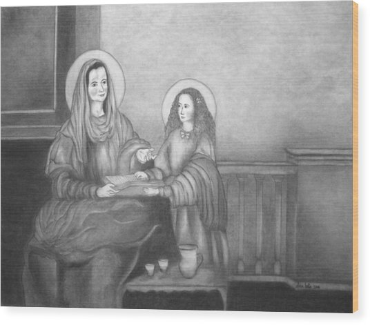 St. Anne And Bvm Wood Print