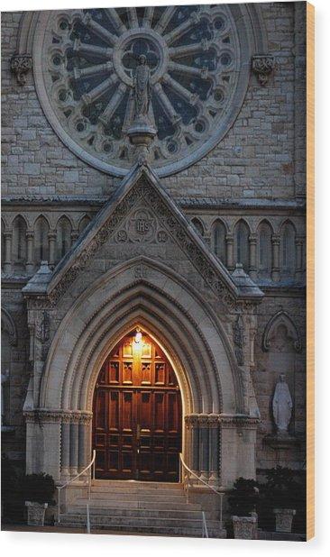 St Annes Church Wood Print by Teresa Blanton