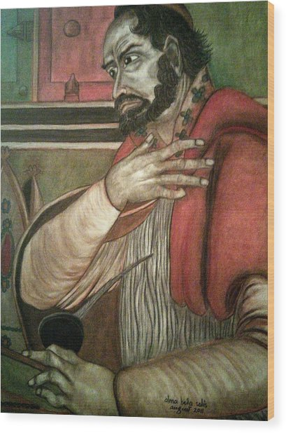 St. Augustine Wood Print