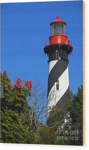 St. Augustine Lighthouse Wood Print by Georgia Nick