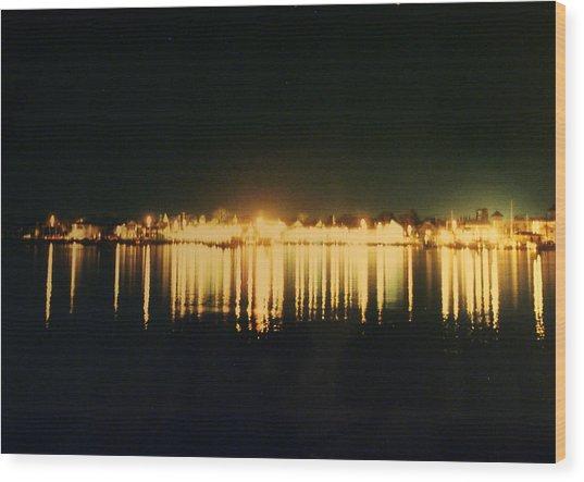 St. Augustine Lights Wood Print