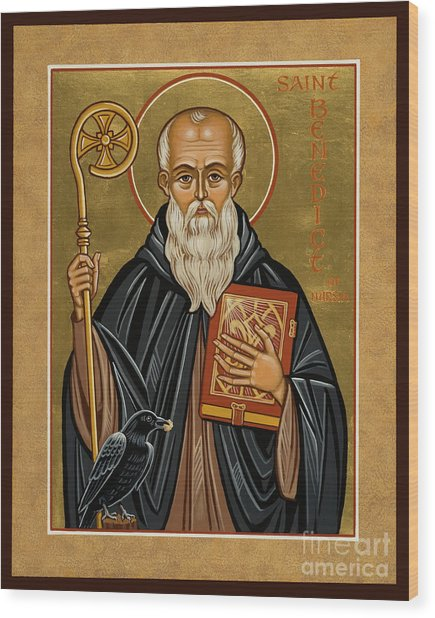 St. Benedict Of Nursia - Jcbnn Wood Print
