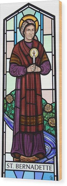 Saint Bernadette  Wood Print