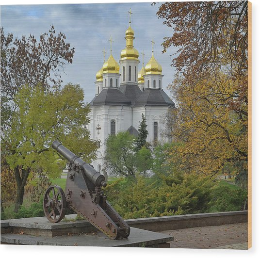 Wood Print featuring the photograph St. Catherine Church. Chernihiv, 2017. by Andriy Maykovskyi