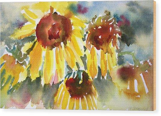 St. Charmand Sunflowers Wood Print